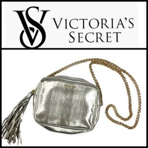 Victoria's Secret Silver Metallic Croc Crossbody